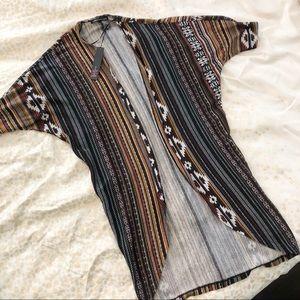 NWT Aztec print kimono cardigan